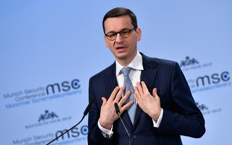 Premier Mateusz Morawiecki /THOMAS KIENZLE /AFP