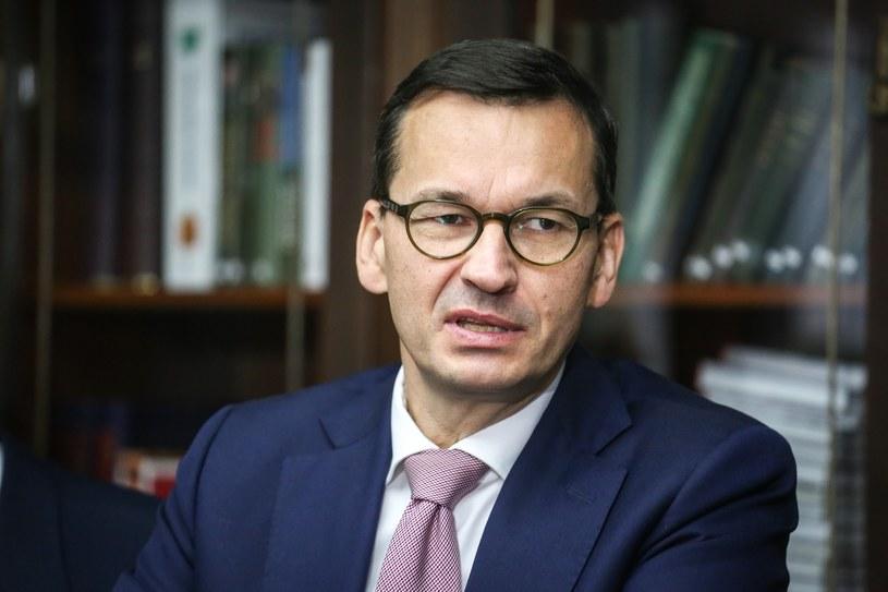 Premier Mateusz Morawiecki /Mariusz Grzelak /Reporter