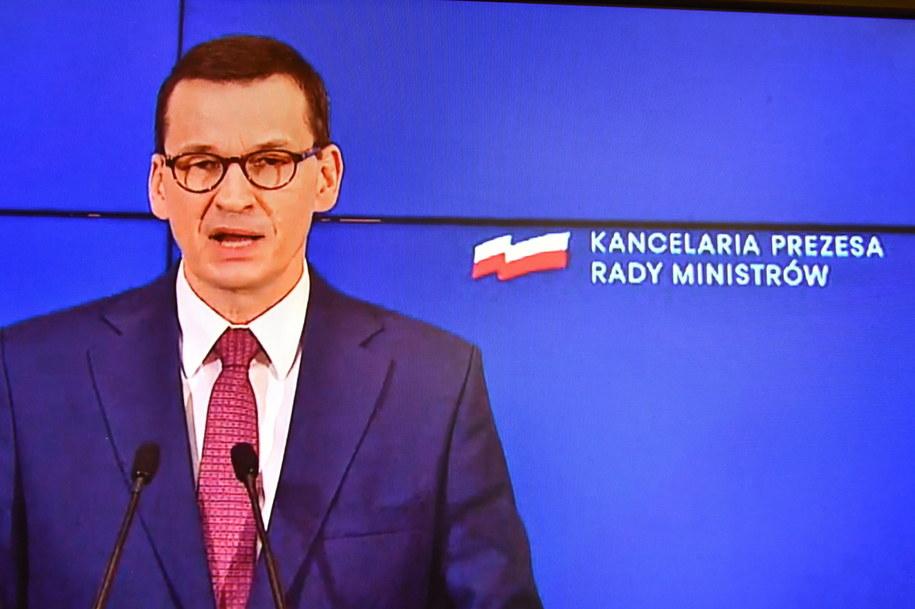 Premier Mateusz Morawiecki /Andrzej Lange /PAP