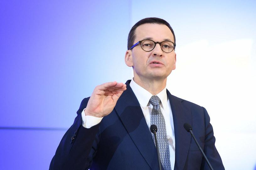 Premier Mateusz Morawiecki /Rafał Oleksiewcz /Reporter