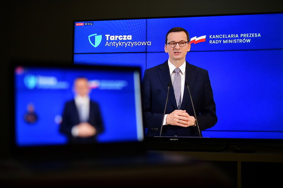 Premier Mateusz Morawiecki / Marcin Obara  /PAP