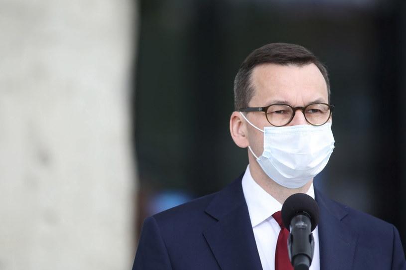 Premier Mateusz Morawiecki / Leszek Szymański    /PAP