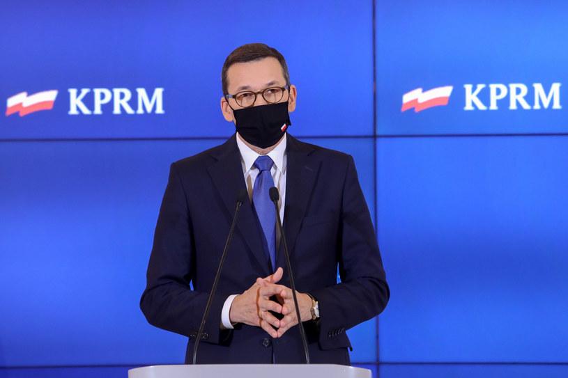 Premier Mateusz Morawiecki /Tomasz Jastrzebowski/ /Reporter