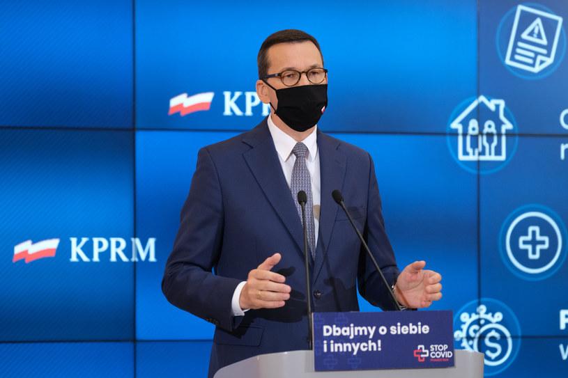 Premier Mateusz Morawiecki /Mateusz Grochocki/ /East News
