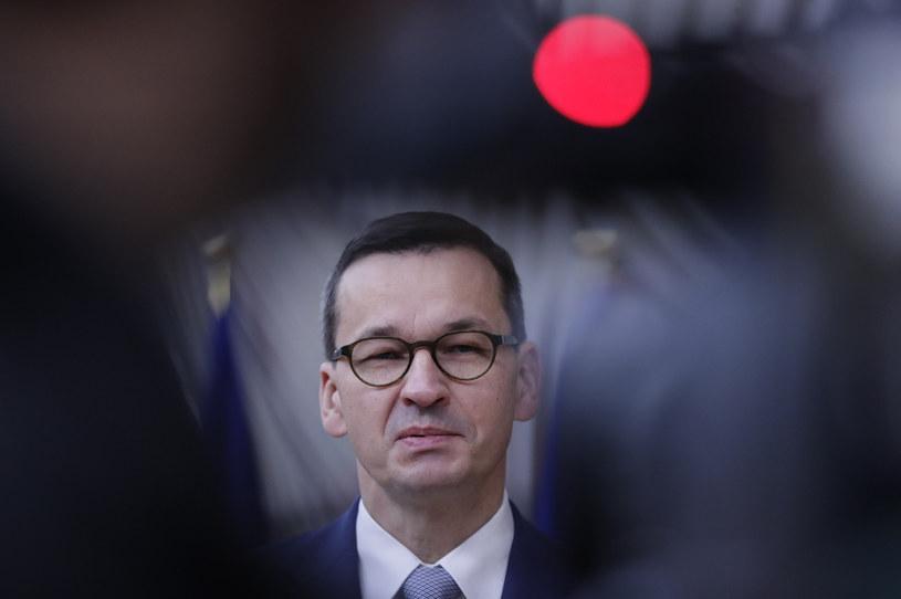 Premier Mateusz Morawiecki /OLIVIER HOSLET / POOL /AFP