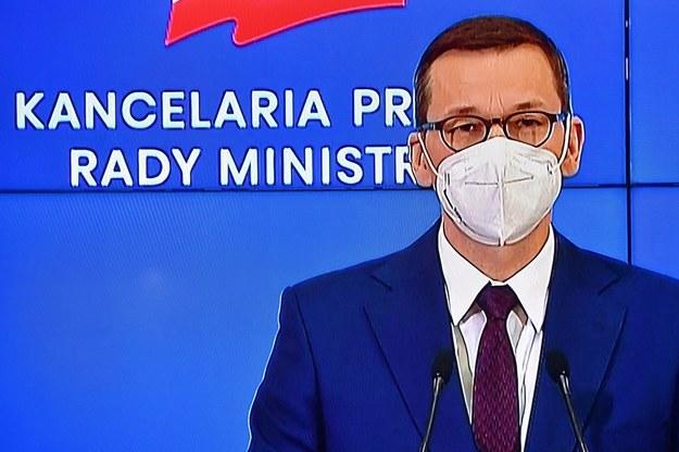Premier Mateusz Morawiecki / Radek Pietruszka   /PAP