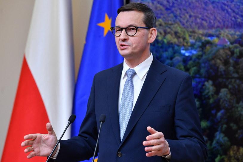 Premier Mateusz Morawiecki /Radosław Pietruszka /PAP