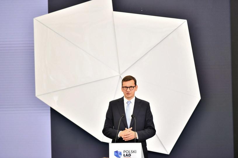 Premier Mateusz Morawiecki / Maciej Kulczyński    /PAP