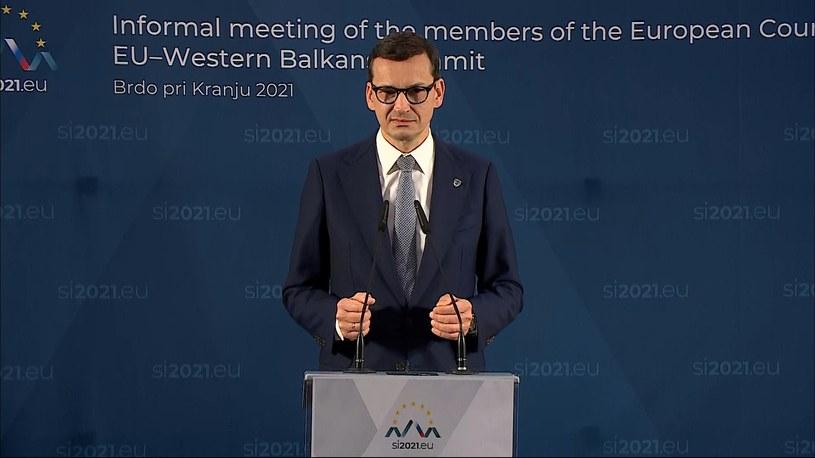 Premier Mateusz Morawiecki /Polsat News