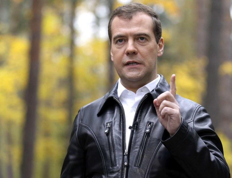 Premier Miedwiediew ostrzega /AFP
