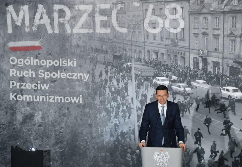 Premier Morawiecki na obchodach Marca '68 /Radek Pietruszka /PAP