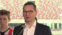 Premier Morawiecki o Lewandowskim i Ekstraklasie. Wideo