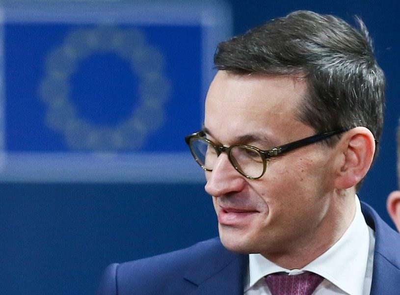 Premier Morawiecki podczas szczytu UE /STEPHANIE LECOCQ  /PAP/EPA