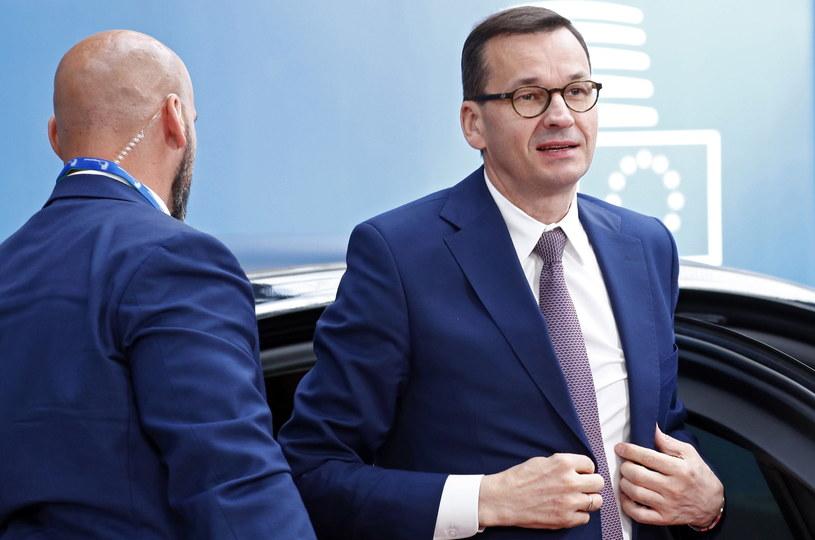 Premier Morawiecki w Brukseli /FRANCOIS LENOIR /PAP/EPA