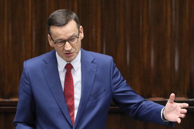 Premier Morawiecki w Sejmie /Paweł Supernak /PAP
