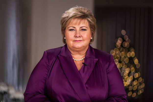 Premier Norwegii Erna Solberg /HAAKON MOSVOLD LARSEN /PAP/EPA