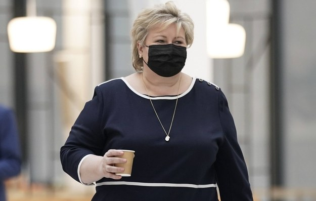 Premier Norwegii Erna Solberg /STIAN LYSBERG SOLUM / NTB /PAP/EPA