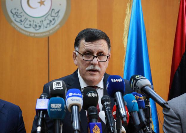 Premier nowo utworzonego Rządu Porozumienia Narodowego Fajiz as-Saradż /AFP