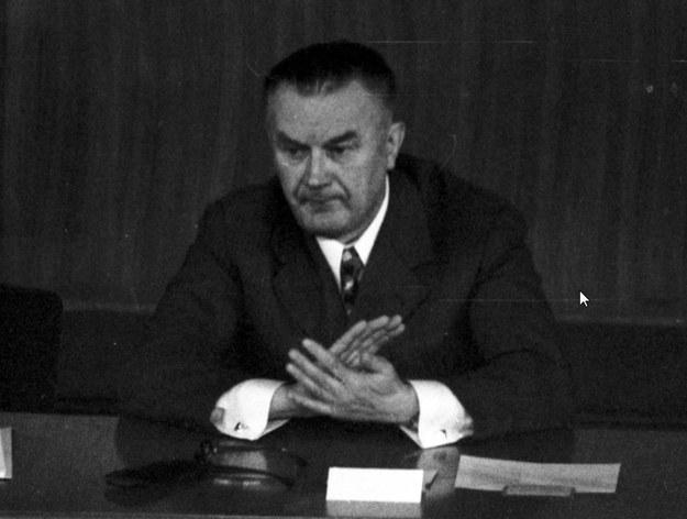 Premier Piotr Jaroszewicz /Z archiwum Narodowego Archiwum Cyfrowego