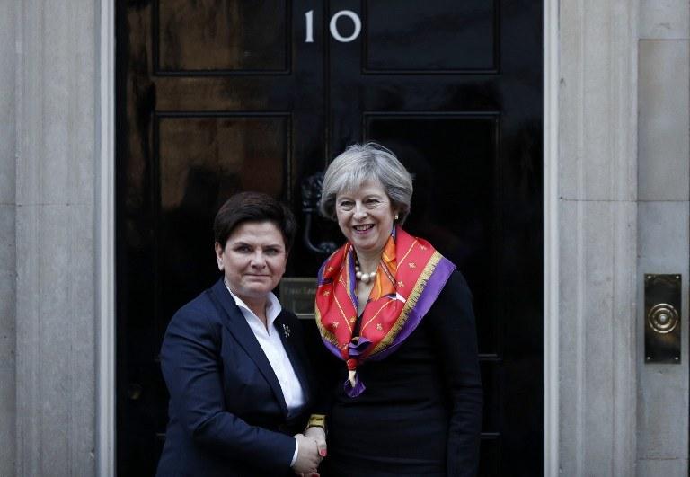 Premier Polski Beata Szydło i premier Wielkiej Brytanii Theresa May /AFP