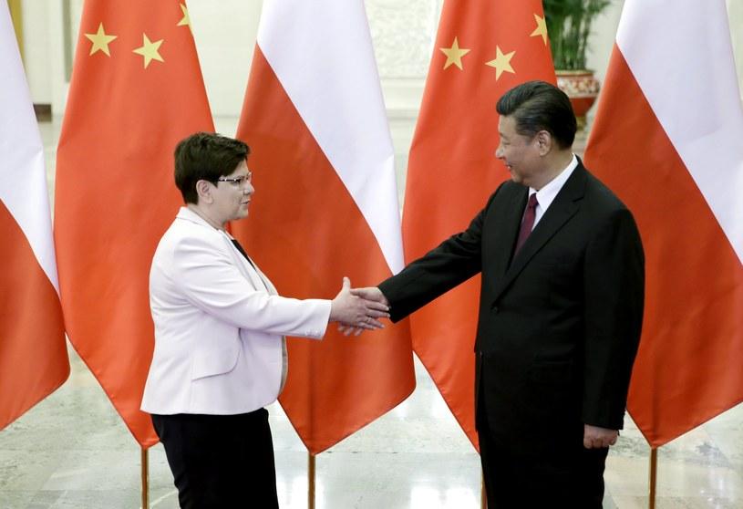 Premier Polski Beata Szydło i prezydent Chin Xi Jinping /PAP/EPA
