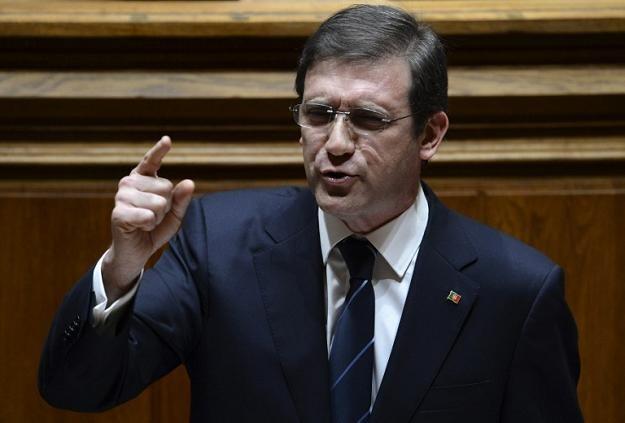 Premier Portugalii Pedro Passos Coelho /AFP