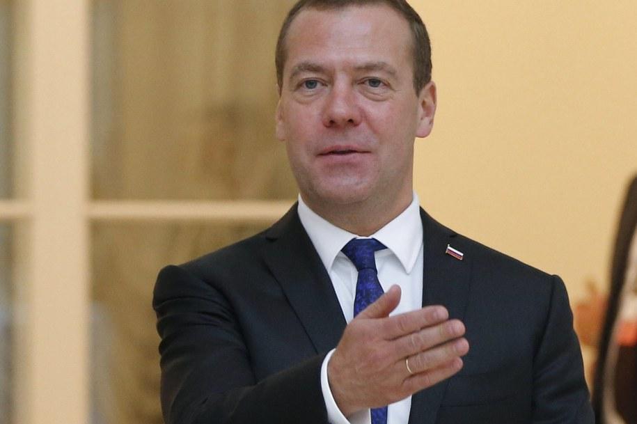 Premier Rosji Dmitrij Miedwiediew /DMITRY ASTAKHOV/SPUTNIK/GOVERMENT PRESS SERVICE POOL /PAP/EPA