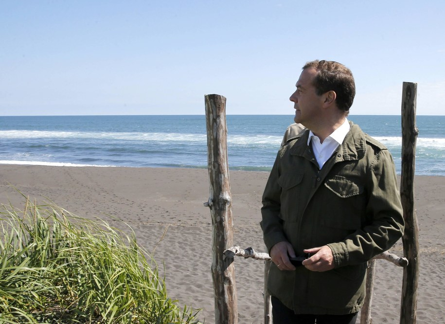 Premier Rosji Dmitrij Miedwiediew /Dmitry Astakhov /PAP/EPA