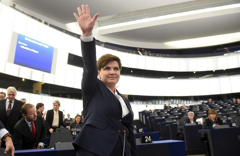 Premier RP Beata Szydło przed rozpoczęciem debaty o sytuacji w Polsce /Radek Pietruszka /PAP