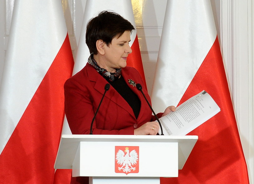 Premier RP Beata Szydło /Marcin Obara /PAP