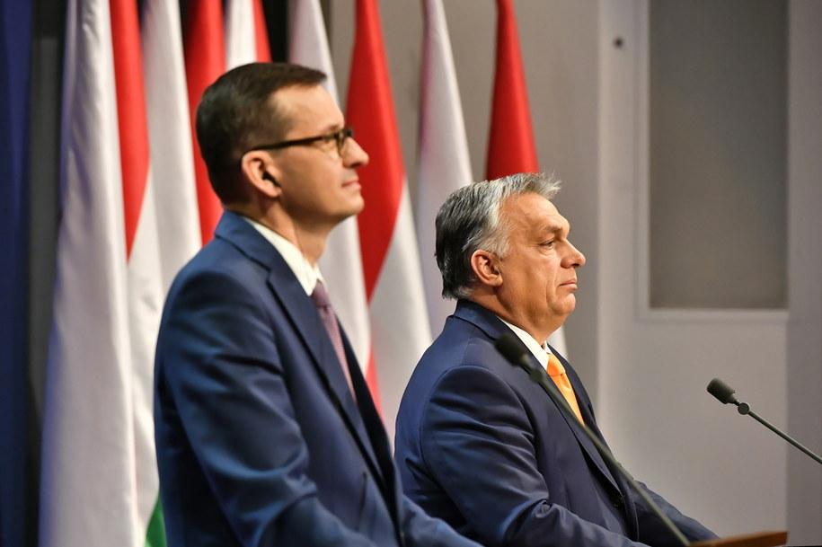 Premier RP Mateusz Morawiecki i premier Węgier Viktor Orban /Andrzej Lange /PAP