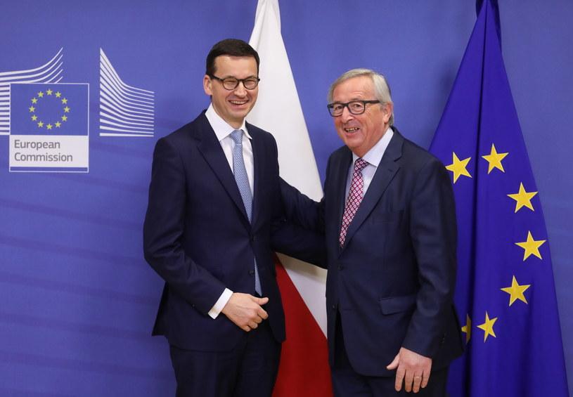 Premier RP Mateusz Morawiecki oraz szef Komisji Europejskiej Jean-Claud Juncker /Paweł Supernak /PAP