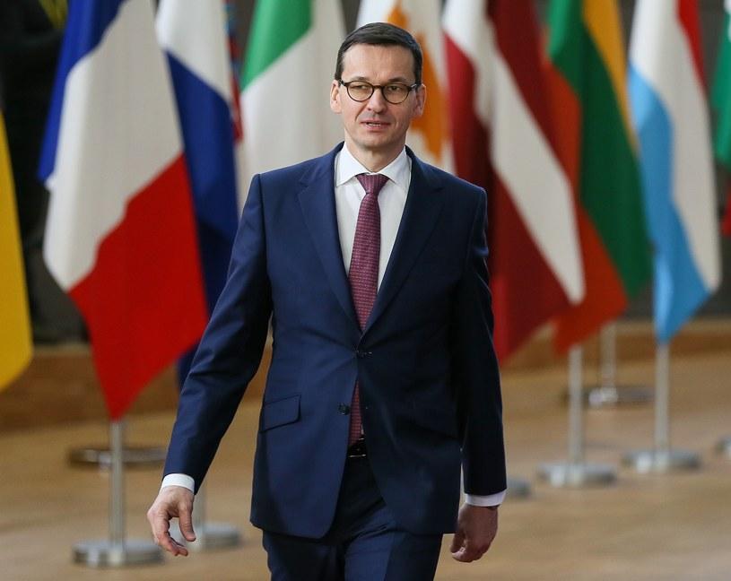 Premier RP Mateusz Morawiecki /Marcin Obara /PAP