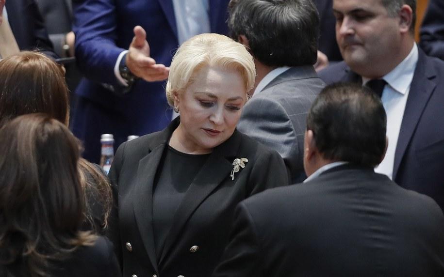 Premier Rumunii Viorica Dancila /ROBERT GHEMENT /PAP/EPA
