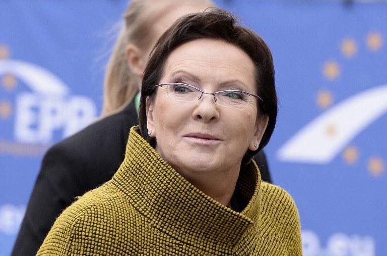 Premier rządu Ewa Kopacz /AFP