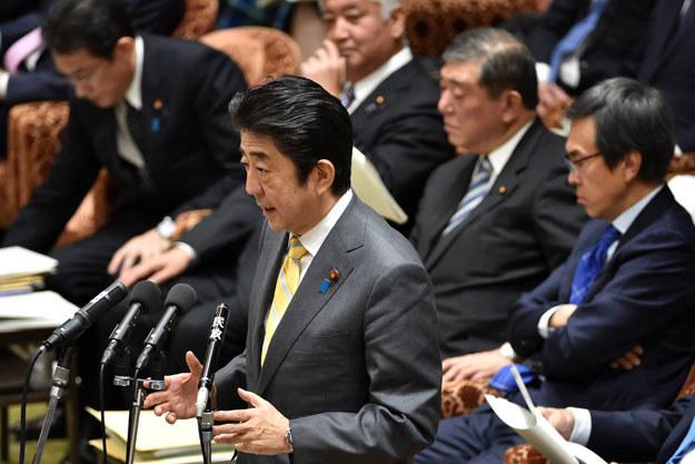 """Premier Shinzo Abe o północnokoreańskich prowokacjach: """"Zagrożenie dla bezpieczeństwa narodowego Japonii"""" /AFP"""