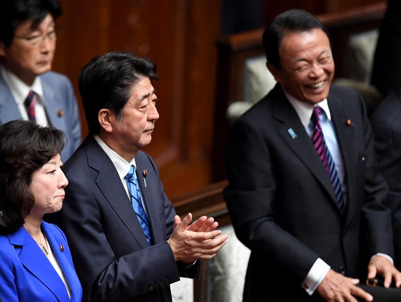 Premier Shinzo Abe po podjęciu decyzji o rozwiązaniu Izby Reprezentantów /TOSHIFUMI KITAMURA /AFP
