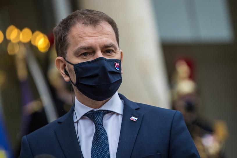 Premier Słowacji Igor Matovicz /Christophe Petit-Tesson /PAP/EPA