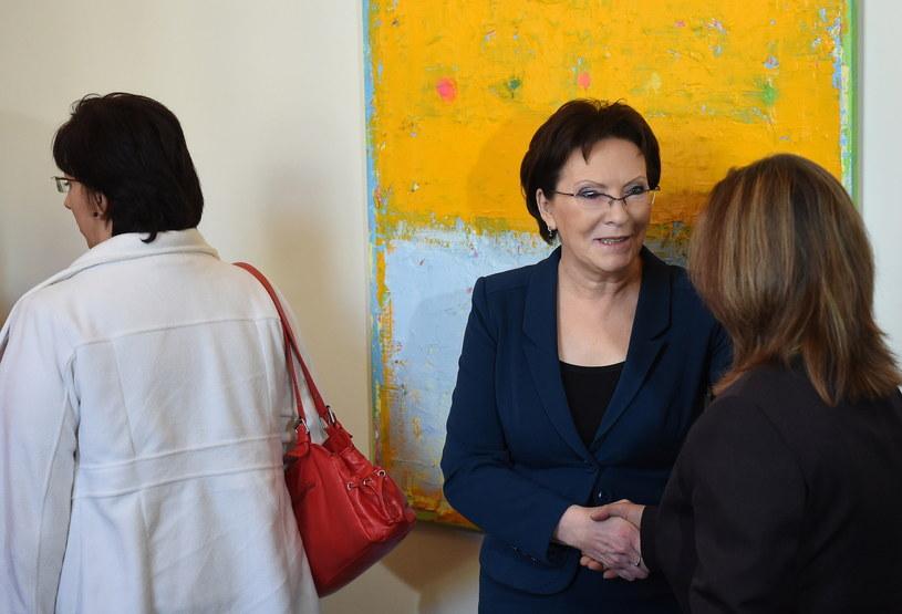 Premier spotkała się z żonami górników z kopalni Kazimierz-Juliusz /Radek Pietruszka /PAP