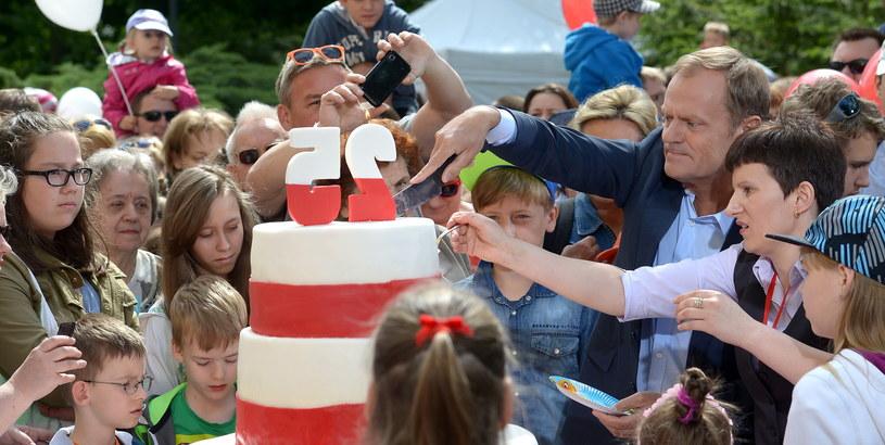 Premier  świętował z najmłodszymi /Radek Piertuszka /PAP