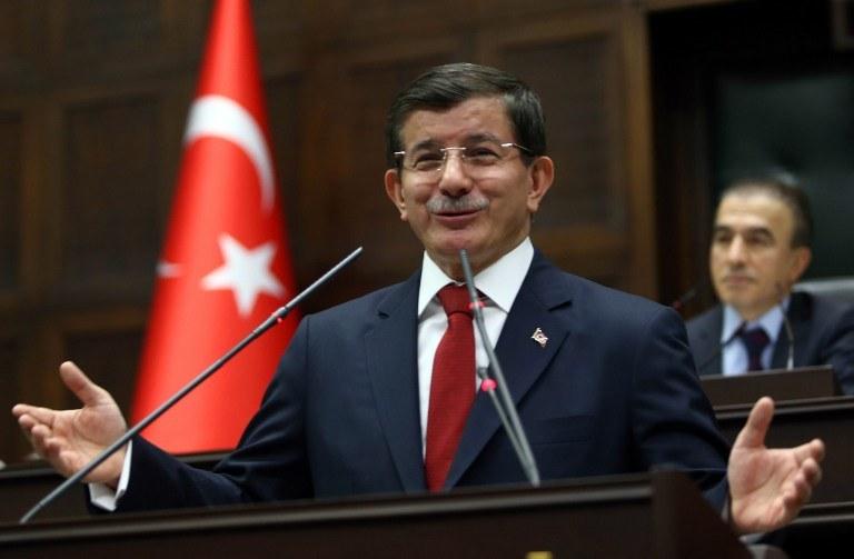 Premier Turcji, Ahmet Davutoglu /AFP