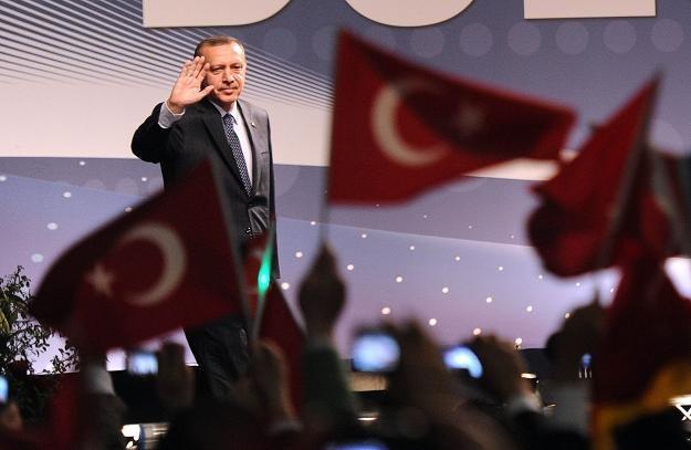 Premier Turcji Recep Tayyip Erdogan w Duesseldorfie /AFP