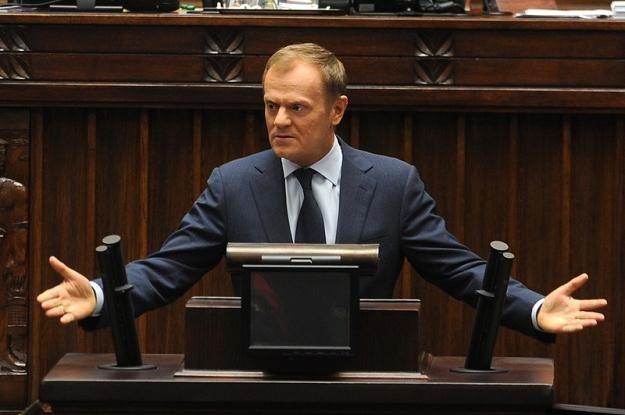 Premier Tusk, fot. Witold Rozbicki /Reporter