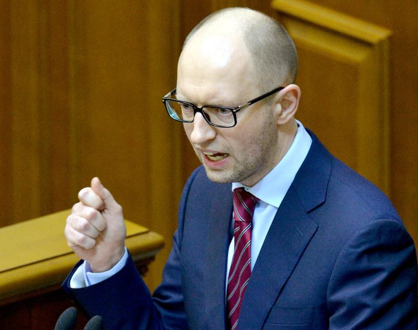 Premier Ukrainy Arsenij Jaceniuk /AFP