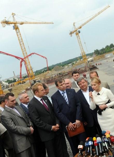 Premier Ukrainy, Julia Tymoszenko przeznaczyła miliard euro na Euro 2012 /AFP