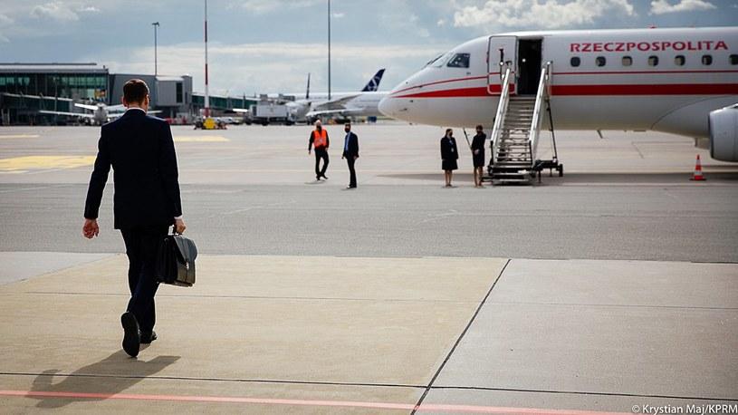 Premier w drodze do Hiszpanii /Krystian Maj/KPRM /Twitter