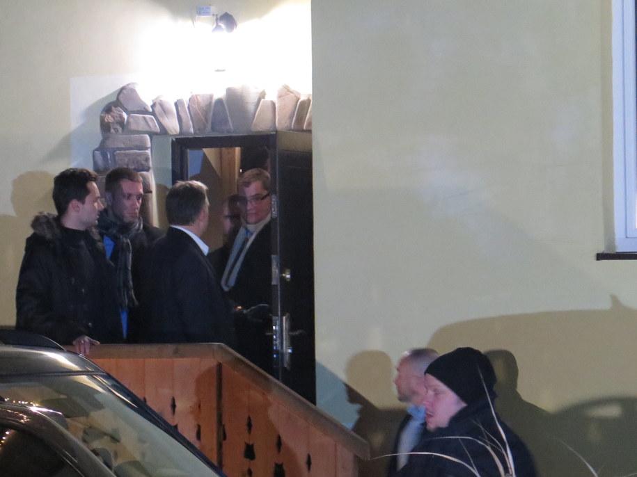 Premier Węgier po spotkaniu z Jarosławem Kaczynskim /Maciej Pałahicki /RMF FM
