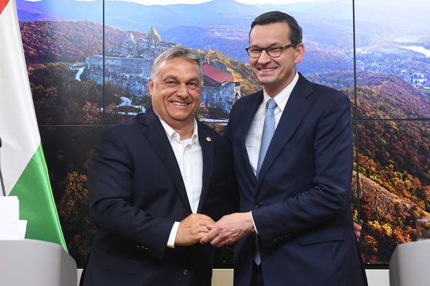 Premier Węgier Viktor Orban i premier RP Mateusz Morawiecki / Radek Pietruszka   /PAP