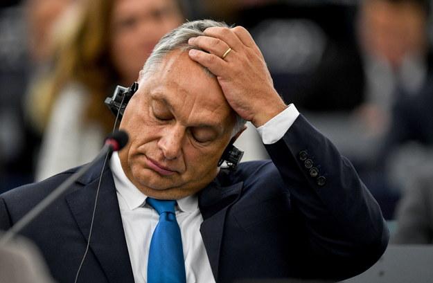 Premier Węgier Viktor Orban w Parlamencie Europejskim /Patrick Seeger  /PAP/EPA
