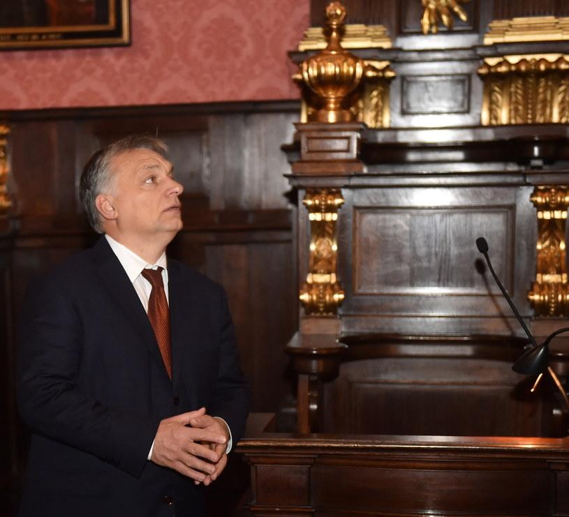 Premier Węgier Viktor Orban zwiedza Collegium Maius Uniwersytetu Jagiellońskiego /Stanisław Rozpędzik /PAP